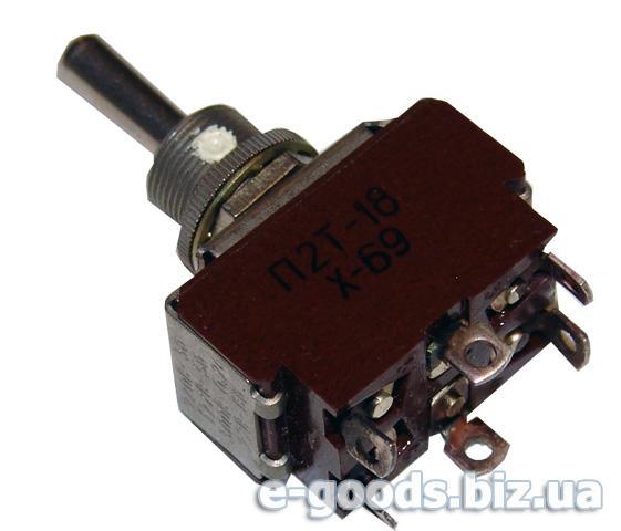 Тумблер двохполюсний П2Т-18