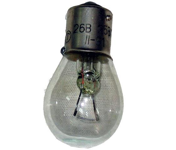 Лампа розжарювання  26В, 25Вт, никель/цинк