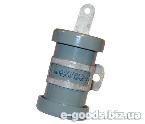 Конденсатор керамічний К15У-2-3300пф-25КВАР-3кВ М1500
