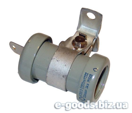 Конденсатор керамічний К15У-2-2200пф-22КВАР-3КВ М1500
